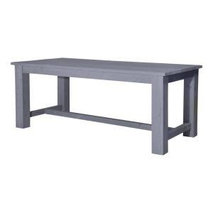 Steigerhouten kasteeltafel beton grijs 250 x 95 x 79