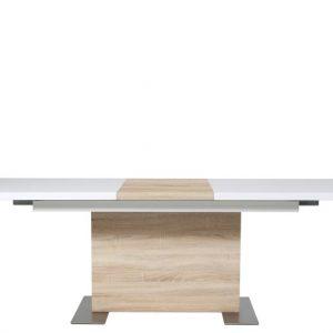 Eetkamertafel Bruck 160/210 x 90 cm hoogglans wit