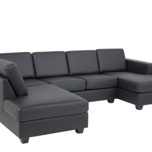 Chaise Longue Findi zwart links