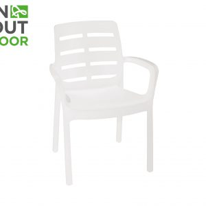 (Binnen-buiten) stoel kunststof wit Wit