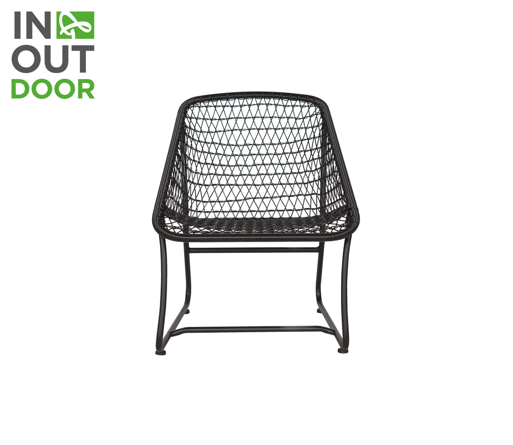 Basiclabel Vigo lounge stoel zwart (binnen-buiten) Zwart