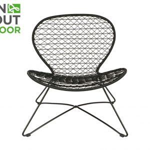 BePureHome Quadro (binnen-buiten) fauteuil zwart Zwart