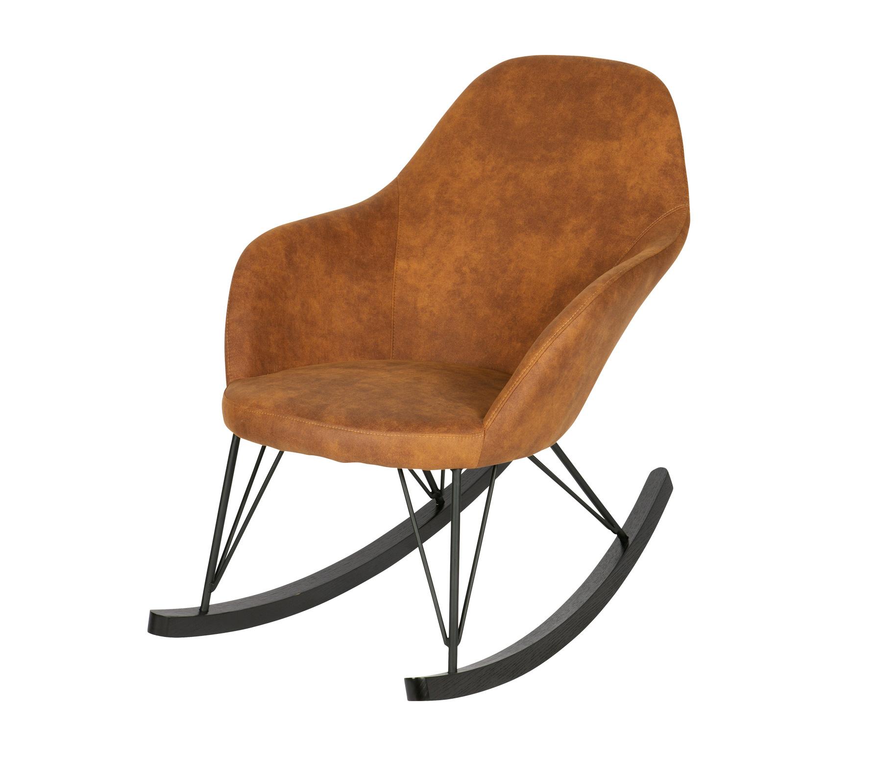 BePureHome Rock schommelstoel bruin Bruin