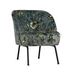 BePureHome Vogue fauteuil poppy grijs Velvet
