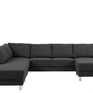 Bank Everton met chaise longue rechts - antraciet