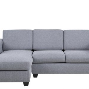 Chaise Longue Findi links lichtgrijs