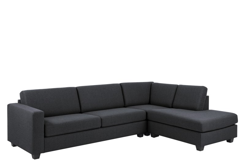 Chaise Longue Findi antraciet rechts
