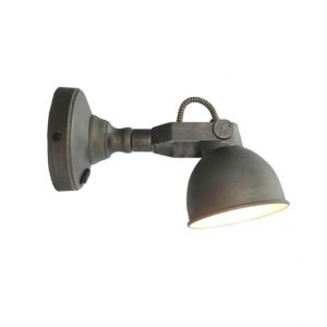 LED Wandlamp Bow M Burned Steel