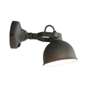 LED Wandlamp Bow L Burned Steel