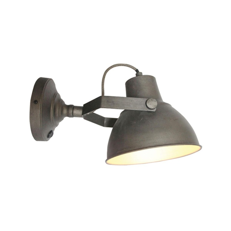 Wandlamp Raw XL Burned Steel