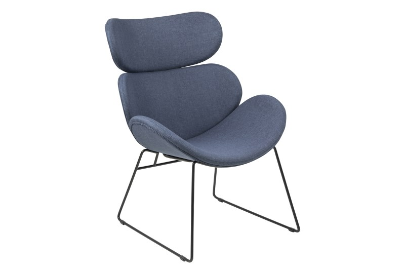 Fauteuil Cazar donkerblauw