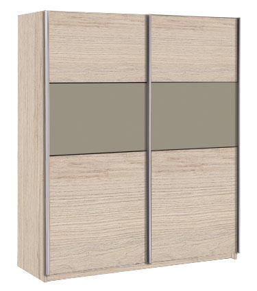 2-sliding door 5-shelf wardrobe 'graphic'