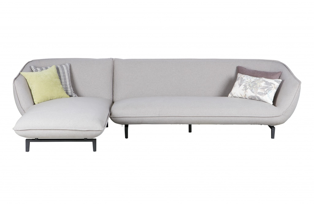 Bow 3-zits Bank Chaise Longue Links Grijs