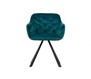 WOOOD Exclusive Elaine eetkamerstoel deep sea velvet