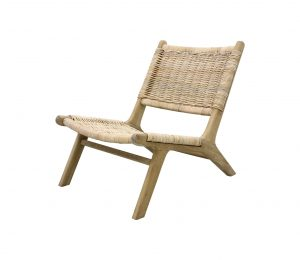 HKLiving Rieten lounge fauteuil Wicker lounge stoel