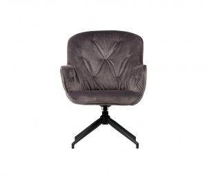 WOOOD Exclusive Elaine fauteuil antraciet velvet