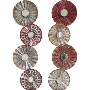 Metalen wandobject Circles set van 2