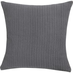 Kussen Cable weave charcoal grey