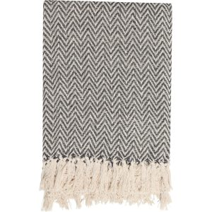 Plaid Zig zag recycled charcoal grey