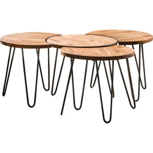 Salontafel London set van 4