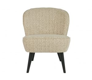 WOOOD Suze fauteuil champagne met patroon Champagne